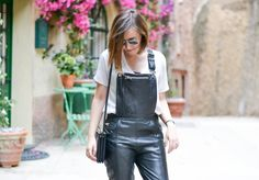 Leather Dungarees // www.about-a-girl.com
