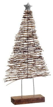 Silk Plants Direct Twig Christmas Tree Table Top (Pack of 2) - traditional - Holiday Decorations - Silk Plants Direct