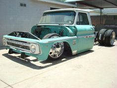 Visit The MACHINE Shop Café... ❤ Best of Trucks @ MACHINE ❤ Slammed '64 Chevy Dually Pickup