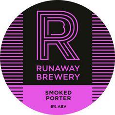 Runaway Brewery Pump Clip Smoked Porter Craft Ale, British Beer, Double Ipa, Beer Coasters, Beer Brands, Running Away, Chicago Cubs Logo, Brewery, Pump