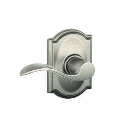The Schlage Camelot Satin Nickel Single Cylinder Deadbolt with Accent Entry Door Lever Combo Pack is perfect for use on exterior doors where extra security is needed. The Accent lever features an elegant Hall Closet, Closet Doors, Schlage Locks, Door Levers, Satin, Home Hardware, Window Hardware, Fashion Room, Polished Brass