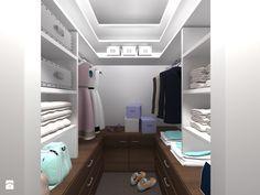 Projekt mieszkania na ul. Indiry Gandhi w Warszawie, 74 mkw. - Mała zamknięta garderoba przy sypialni, styl nowoczesny - zdjęcie od Patrycja Bedyk Studio Projektowe - homebook