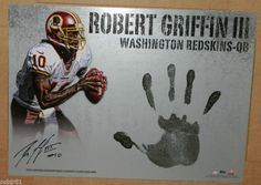 2012 TOPPS SUPREME ROBERT GRIFFIN III AUTO HAND STAMP /10 REDSKINS 13X18 INCHES   the Redskins Collectionary