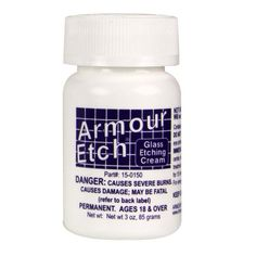 Armour Etch 3 oz. bottle (NOT RECOMMENDED FOR CLEANING GLASSES!) Armour Etch http://www.amazon.co.uk/dp/B0001DTWYG/ref=cm_sw_r_pi_dp_IEdcvb03SEX07