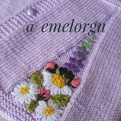 inspiration for a little boler Knitting For Kids, Baby Knitting Patterns, Embroidery Patterns, Baby Dress, Tatting, Needlework, Knit Crochet, Cross Stitch, Etsy Shop