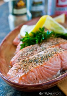 Baked Crusted Salmon by A Family Feast
