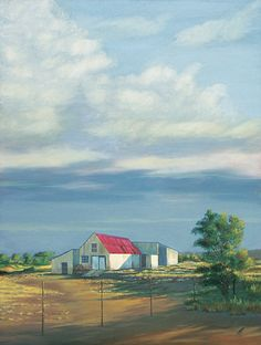 Farm Shed - Oil on Canvas