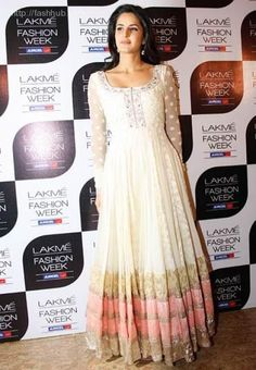 Katrina Kaif looking elegant as usual in Manish Malhotra Anarkali Frock, White Anarkali, Anarkali Suits, Lehenga, Long Anarkali, Punjabi Suits, Frock Design, Indian Attire, Indian Ethnic Wear