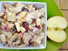 chicken 'n apple salad - Budget Bytes (eventueel met walnoot/ rode druiven/ gedroogde abrikoos/ amandelschijfjes/ rozijntjes/...)