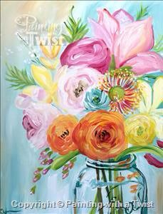 Painting With A Twist #PWAT  #PaintingWithATwist Vibrant Spring