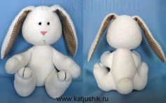 toy bunny with his hands workshop with free patterns