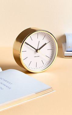 Make the most of every moment at your desk with this gorgeous Gold Karlsson Desk Clock Life Organization, Organisation Ideas, Kikki K Planner, Gold Desk, Pretty Designs, Desk Clock, Swedish Design, Best Relationship, The Dreamers