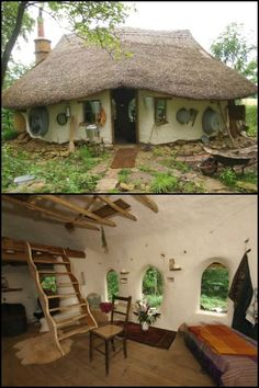 Eco-friendly hand built natural home cost only $250 to build!