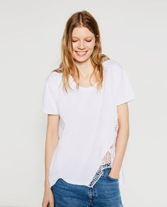 Image 1 of GUIPURE T-SHIRT from Zara