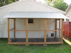 Here's the new garage coop! I've had my hens for about a year now, and when I bought this house...