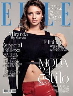 Model Miranda Kerr lands not just one but two covers for the November 2016 issue of Elle Spain.