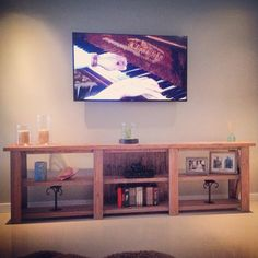 8ft Rustic TV Stand w/ 6 console stations  on Etsy, $450.00