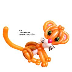 How cute is this Balloon Cat Jami Krause Seattle, WA, USA? For your party consider hiring a balloon entertainer!