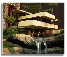 Frank Lloyd Wright: Falling Water  One of the most famous homes of his designs and most discussed in arcitectural classes.