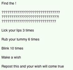 Repost and your wish will come true!! ;)