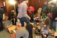 Shoe box project with Serve the City