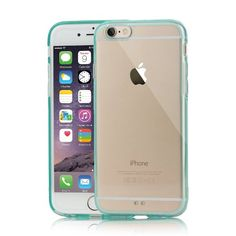 iPhone 6 Case (Full 4.7)- New Transparent Protective Case  for your Apple Phone - For Girls and Guys - Stylish and Fashion Case to Protect your Investment -  High Quality TPU/Rubber Construction  - Best Life Time Guarantee (Light Blue)