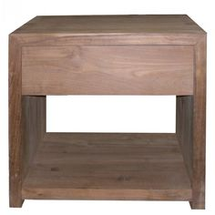 Teak Azur night table 1 drawer - OISHI Furniture & Homewares