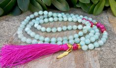 Zen Buddhist Prayer Beads  108 Mala Tassel by Braceletshomme
