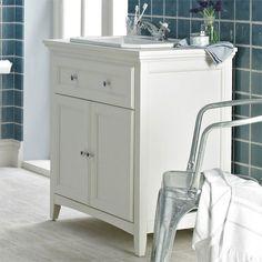Savoy Old English White 790 basin unit - with 1 tap hole basin 479 Sink Vanity Unit, Bathroom Sink Units, Vanity Units, Loft Bathroom, Family Bathroom, Simple Bathroom, Bathroom Ideas, Bathroom Inspiration, Under Sink Unit