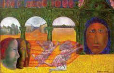 """Niñas corriendo"" by Rodolfo Morales Mexican Artists, Art Women, Popular Art, Concept Architecture, Antique Photos, Columns, Female Art, Handicraft, Figurative"