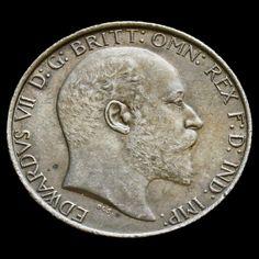1903 Edward VII Silver Florin - Scarce - AU