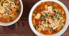 Minestrone soup by the Greek chef Akis Petretzikis. A quick and easy recipe for a traditional Italian soup with beans, veggies, and macaroni! Raw Food Recipes, Soup Recipes, Recipies, Italian Soup, Butter Beans, Alphabet Soup, Stuffed Pasta Shells, White Beans, Quick Easy Meals