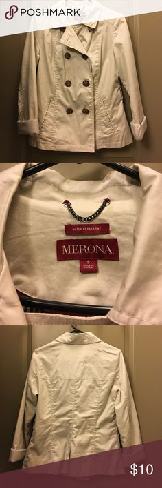 Water Proof Trench Jacket Never worn! In perfect condition. Tag says water repellent. So cute, just need to clear out my closet. Merona Jackets & Coats Pea Coats