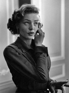 Lauren Bacall photographed by Ruth Orkin at the St. Regis Hotel, New York City, 1950.