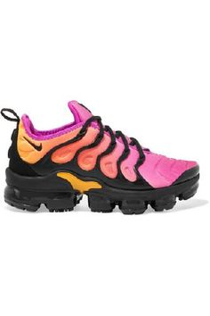 Nike - Air Vapormax Plus Faux Suede-trimmed Neoprene And Rubber Sneakers - Bright pink Pink Running Shoes, Running Shoes For Men, Matthew Williamson, Most Comfortable Sneakers, Air Max Sneakers, Sneakers Nike, Christian Louboutin, Aqua, Running Shoes