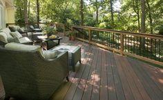 Hardwood deck designed and built by Atlanta Decking.