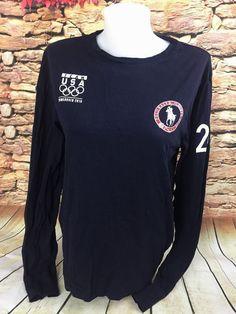 e46b77ea2b9 Polo Ralph Lauren Womens 2010 Vancouver Olympics Team USA Long Sleeve Shirt  S  RalphLauren
