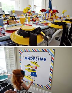 pin the hat on madeline game & hat party favors