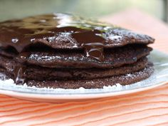 » {Dukan} Brownie Pancakes she is red