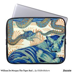 William De Morgan The Tiger And The Snake Laptop Sleeve