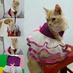 Dress princess warna ungu Size : S, M, L, XL