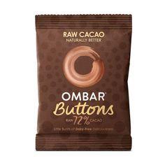 Ombar Organic 72% Dark Buttons 25g