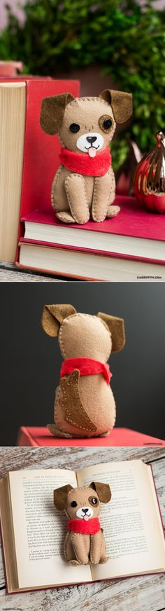 I want to make this little felt dog stuffed animal