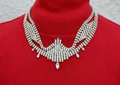 Exquisite Vintage Rhinestone Wedding Necklace by LynnsBeadsNThings, $95.00