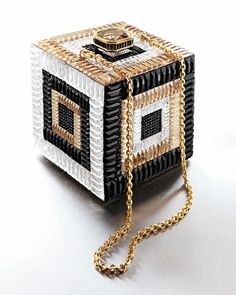 Awesome blingy cube clutch!