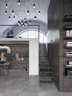 Loft Interior in Chicago on Behance