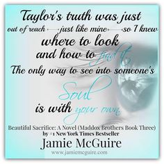Beautiful Sacrifice (The Maddox Brothers, #3) by Jamie McGuire Coming Summer 2015 - Cover and Pre-Order Links Coming Soon! Add to your TBR: https://www.goodreads.com/book/show/23714532 #BeautifulSacrifice #TaylorMaddox #MaddoxBrother #JamieMcGuire Graphic Credit: Heather Moss