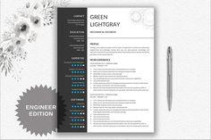 Resume   CV Template - Engineer by DocumentFolder on @creativemarket
