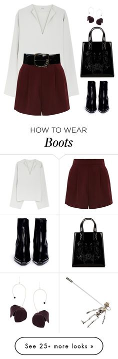 """""""N."""" by eda07 on Polyvore featuring Topshop, Kenzo, Chanel, Alexander McQueen, Marni and Reike Nen"""