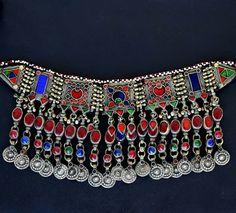 Turquoise Afghan Turkmen Tribal Ethnic Kuchi Necklace 439